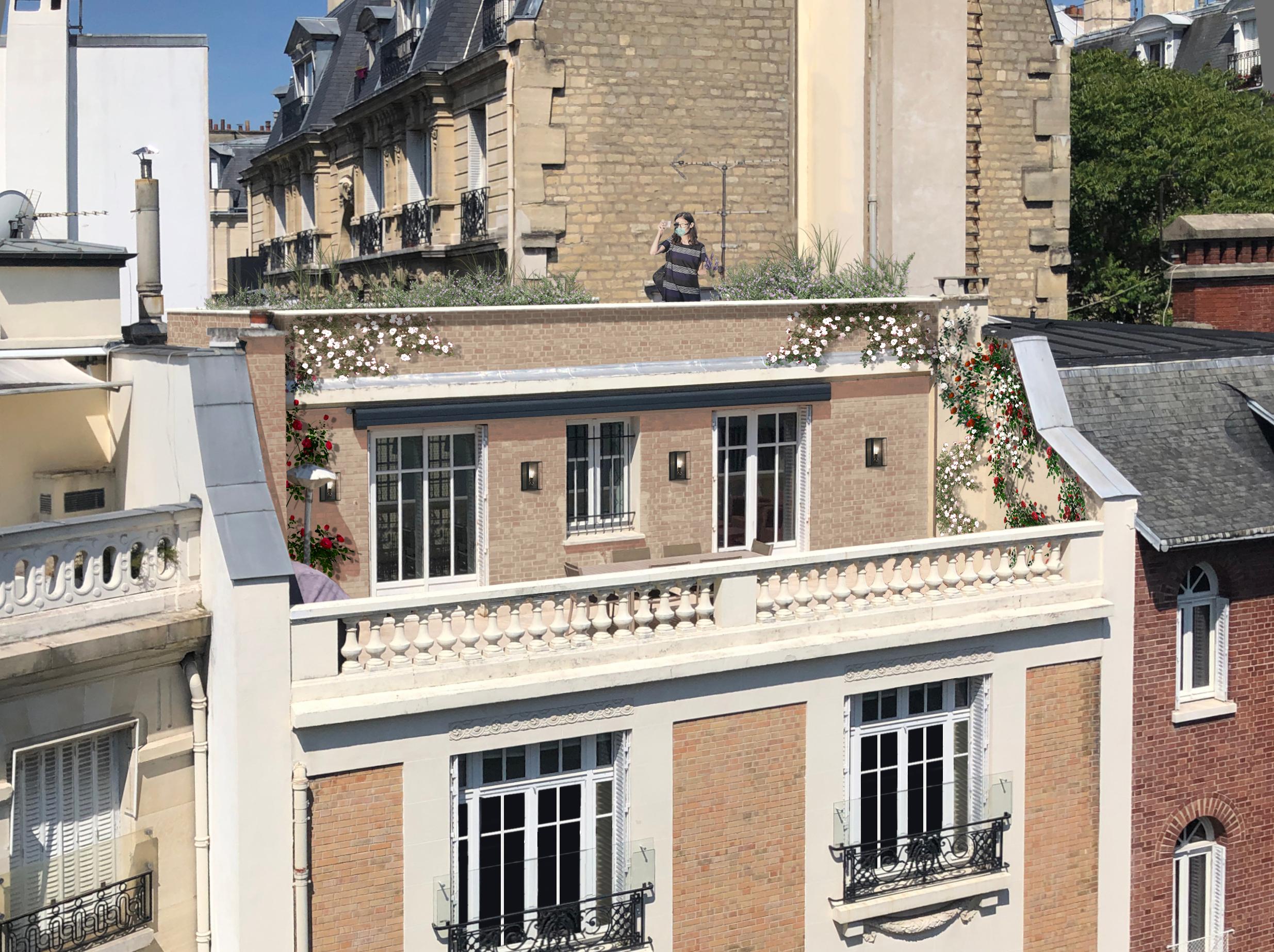 Création d'une terrasse en R+3